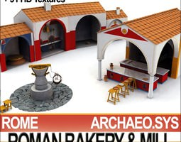 3D model Roman Town Bakery Mill 3 1