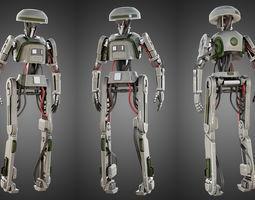 Star Wars L3-37 droid 3D model
