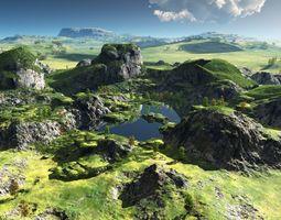 Green oasis in Vue 3D