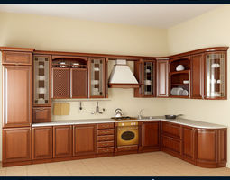 3D model kitchen set 02