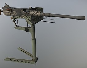 3D model Browning M2 Low Poly