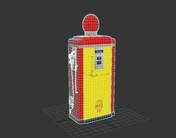 3D model shell petrol pump 1955