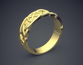 3D print model Simple Golden Ring With Unique Braiding