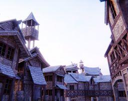 3D model Medieval buildings2