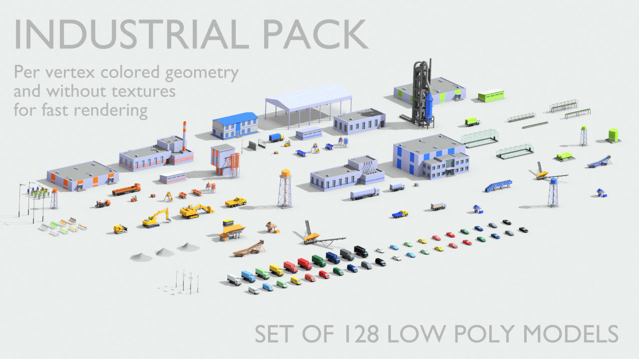 Industrial models pack