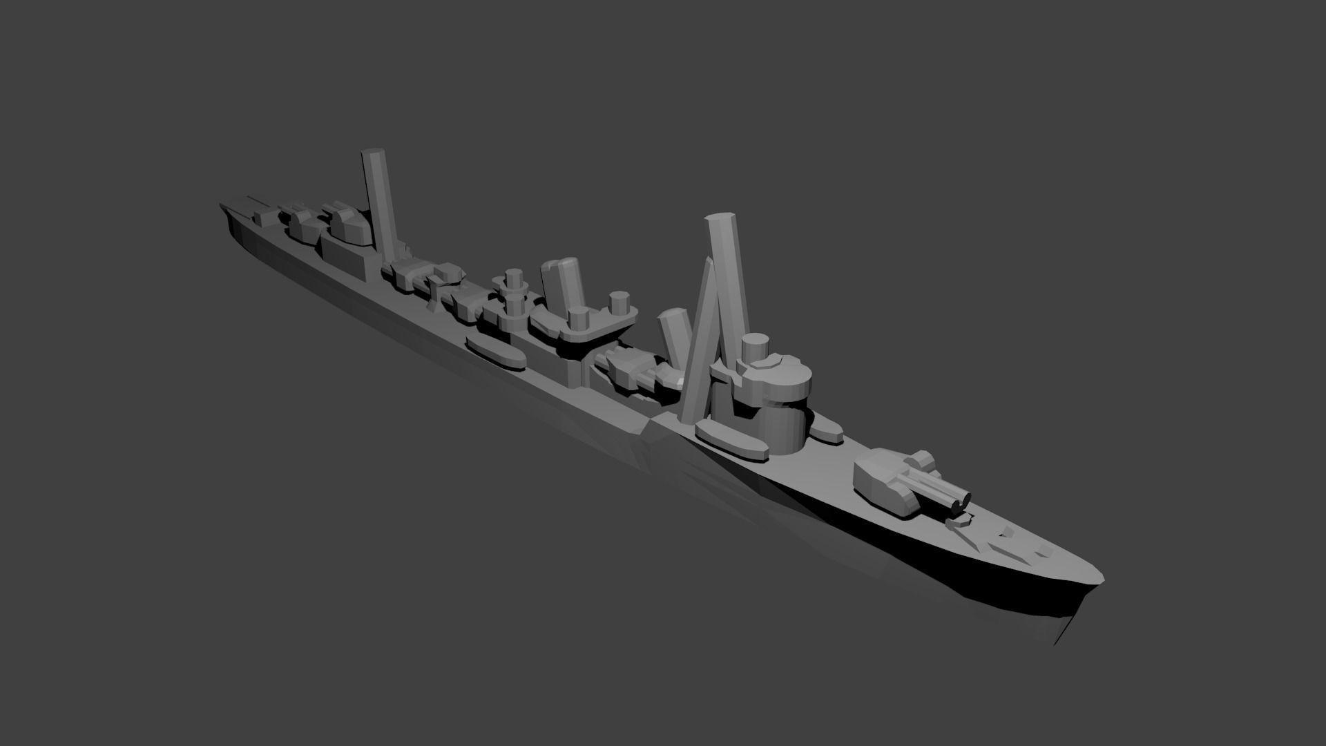 Japanese Akatsuki Class Destroyer Warship