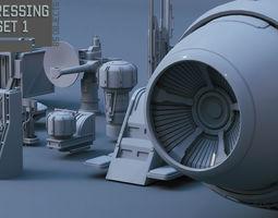 Scifi dressing kitbash set 1 3D