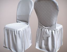 Covered Chairs 3D asset