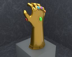 3d model rigged infinity gauntlet