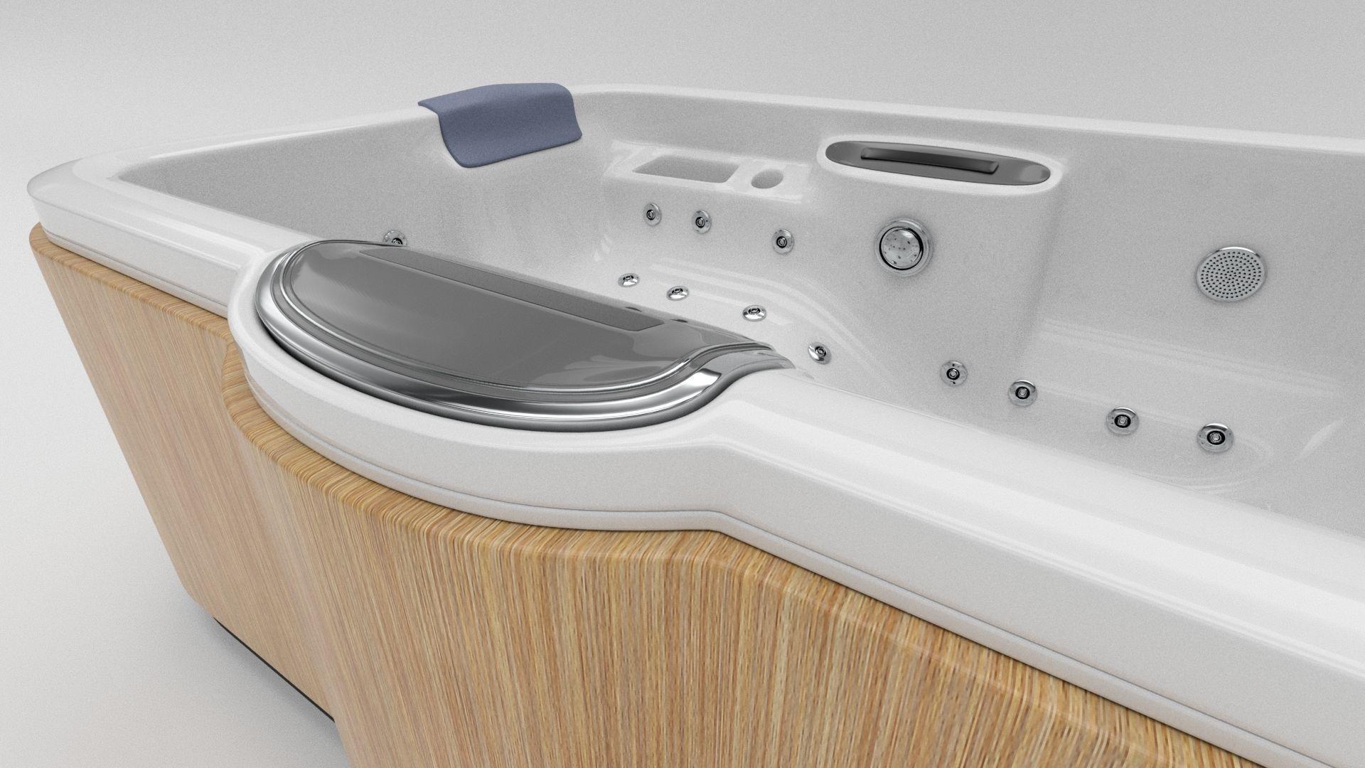 3D model Hot Tub Whirlpool Spa VR / AR / low-poly MAX OBJ FBX MTL