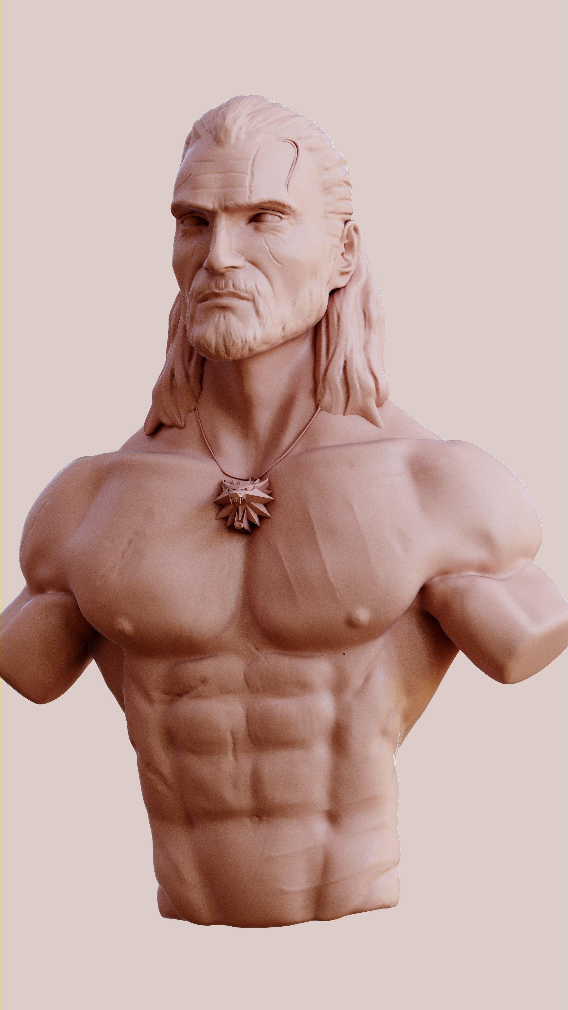Geralt of Rivia  3D model print
