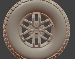 3D print model Ford F150 Raptor Tire and Rim