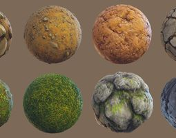 3D model Forest - Stylized PBR materials