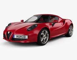 Alfa Romeo 4C with HQ interior 2014 3D