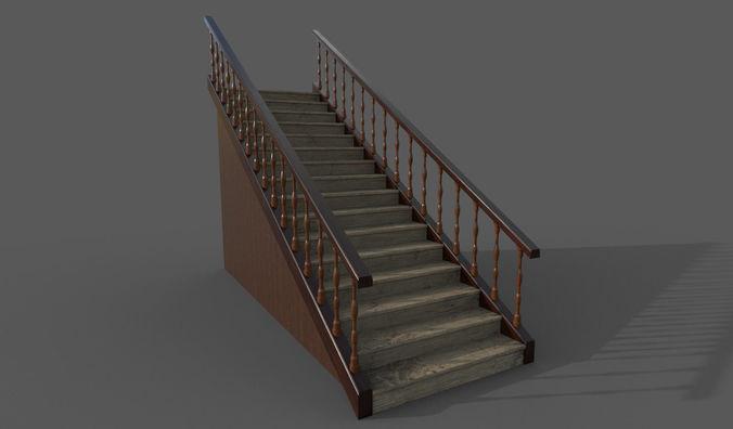 stairway 3d model fbx dae 1