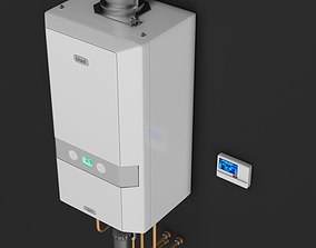 3D Ideal Logic Heat Domestic Boiler with control unit