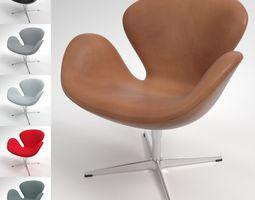 Fritz Hansen Swan Chair Blender Cycles 3D