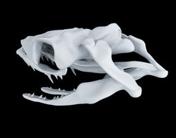 Skull Snake - Opsthoglyphous 3D print model