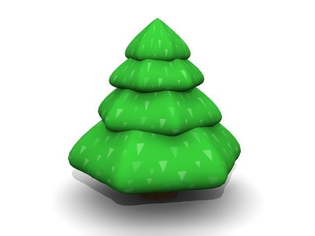 3D Cartoon Pine Tree
