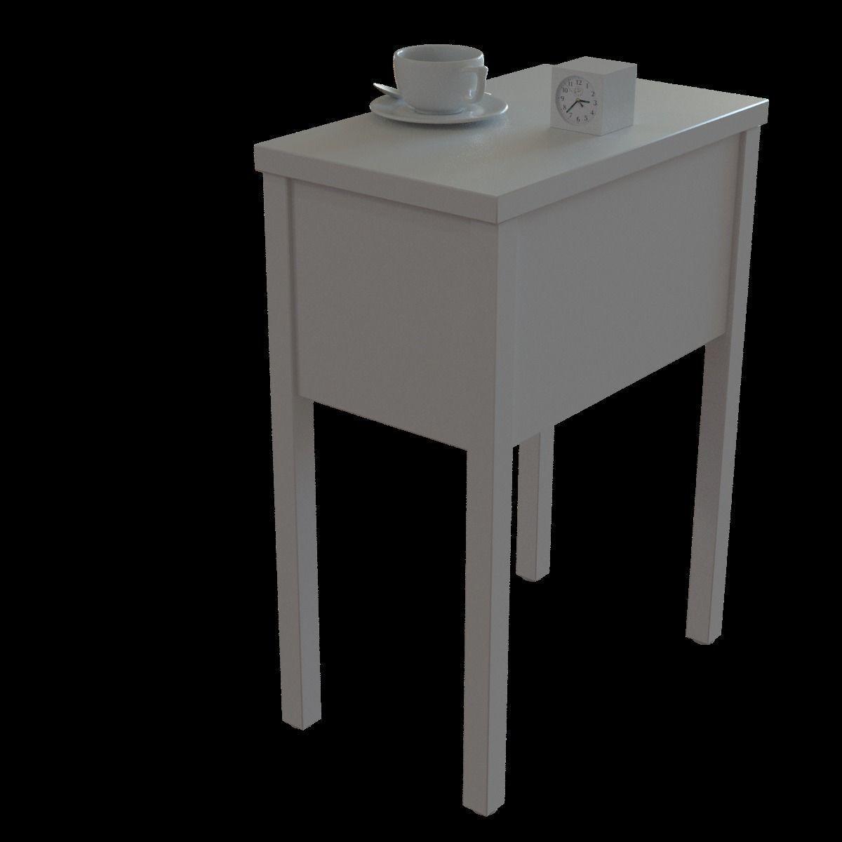 Ikea Nordli Bedside Table 3d Model Cgtrader
