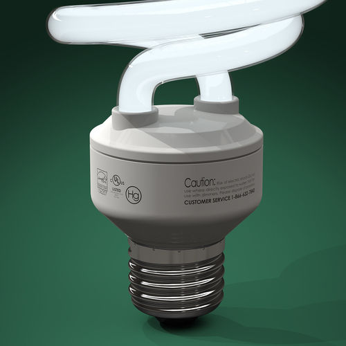 compact fluorescent light bulbs cfls free 3d model. Black Bedroom Furniture Sets. Home Design Ideas