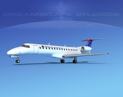 Embraer ERJ-140 Delta Connection 3D