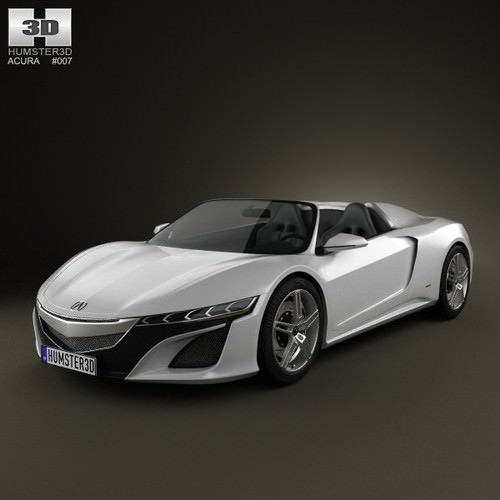 Acura NSX Convertible 2012 3D Model MAX OBJ 3DS FBX C4D