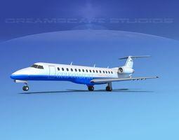 3D model Embraer ERJ-140 Gulf Coast Jet