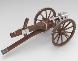 3D model Medieval cannon