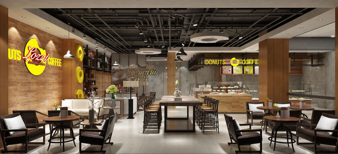 Modern Restaurant Interior Model Max 2