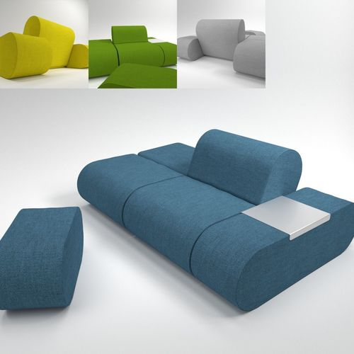 soft line heart sofa blender cycles 3d model obj fbx blend mtl pdf 1