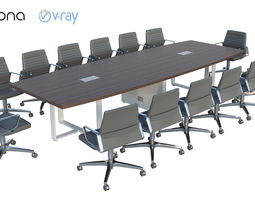 board 3D model Conference table