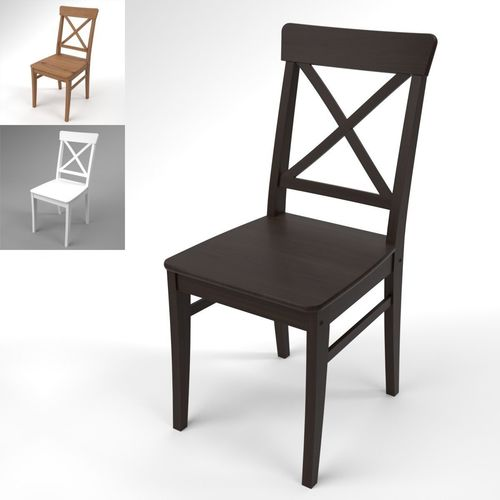 Etonnant Ikea Ingolf Chair Blender Cycles 3D Model
