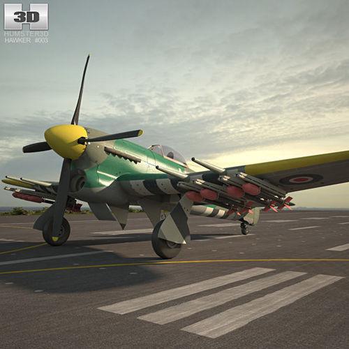 hawker typhoon 3d model max obj mtl 3ds fbx c4d lwo lw lws 1