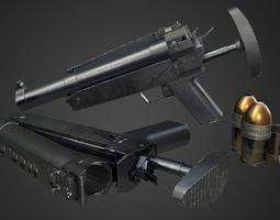 HK69A1 Grenade Launcher 3D model VR / AR ready