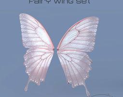 Fairy or Butterfly Wings Set B 3D model