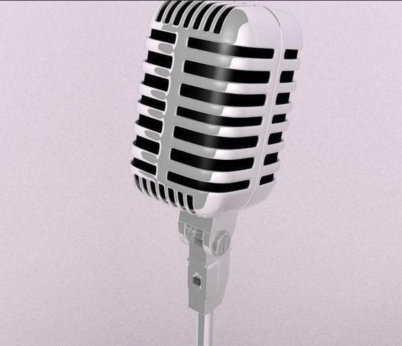 microphone 3d model obj mtl 3ds fbx stl blend 1