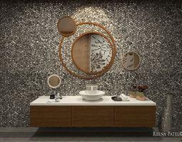 3D asset low-poly Bathroom