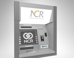 3D model NCR ThroughWall ATM Machine 5887 Blender Cycles