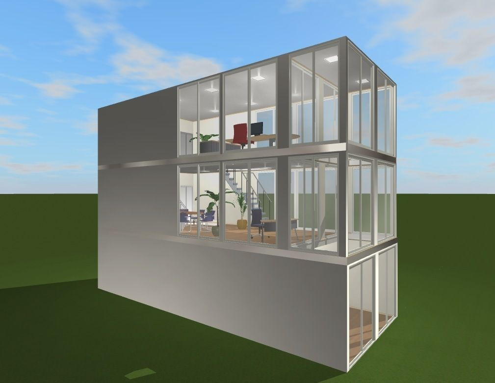 Minimalist Office Space For Startups Free 3d Model