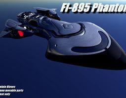 3d model rigged fi-895 phantom