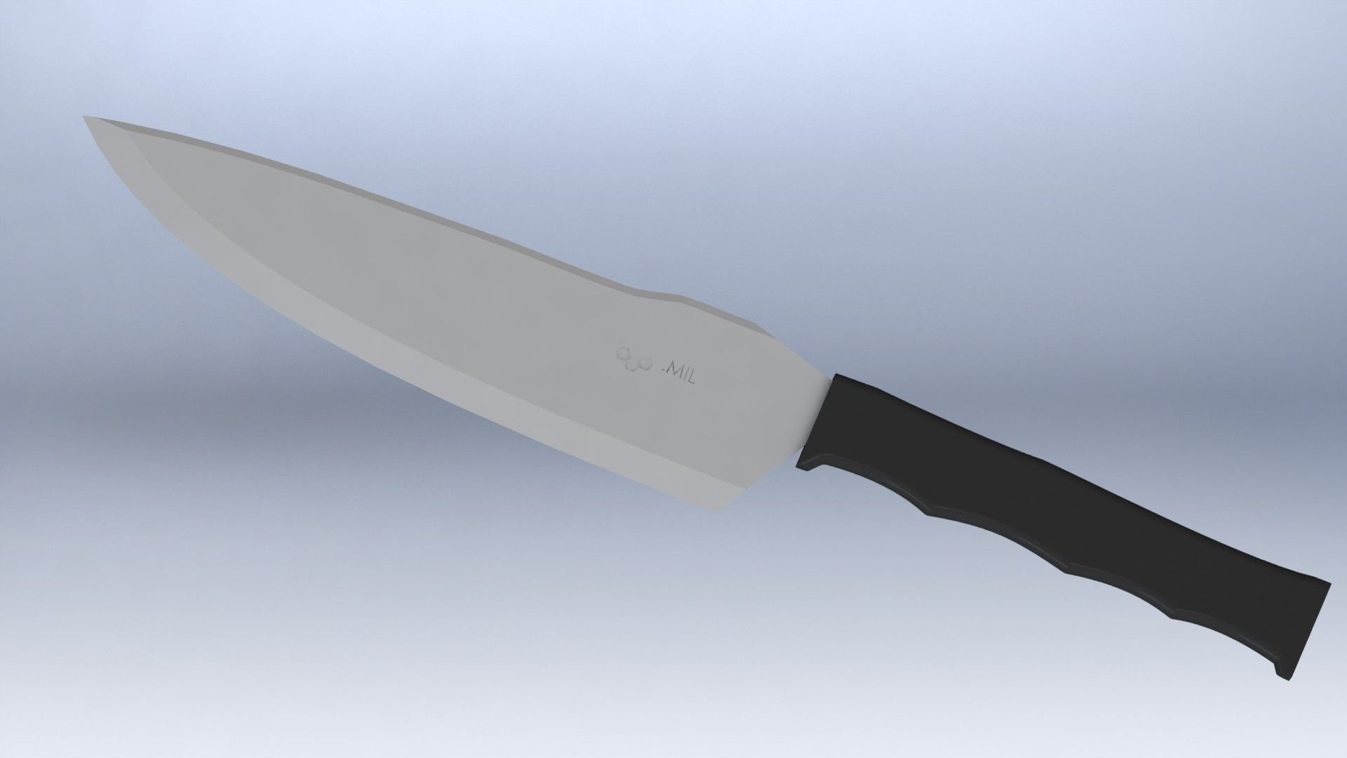 3D model Tactical Kitchen Chefs Knife