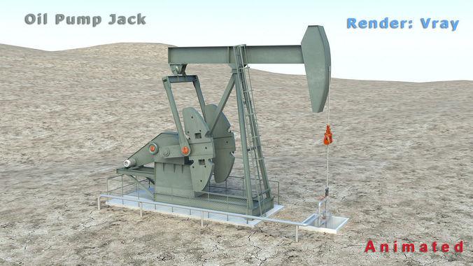 oil pump jack 3d model max mat 1