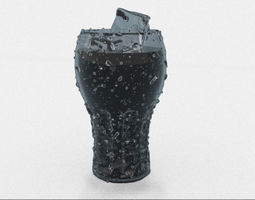 Glass of Coca Cola 3D model