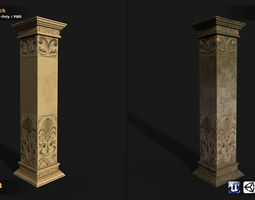 Column 2in1 Collection 3D model game-ready