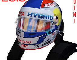 3D model Buemi WEC helmet 2018