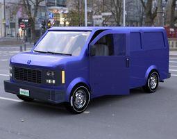 3D model Delivery Van for DAZ Studio