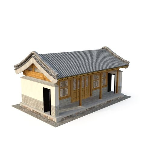 ancient chinese architecture distribution room 03 3d model low-poly max obj mtl 3ds fbx 1