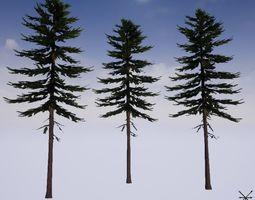 Lowpoly Fir tree 3D model