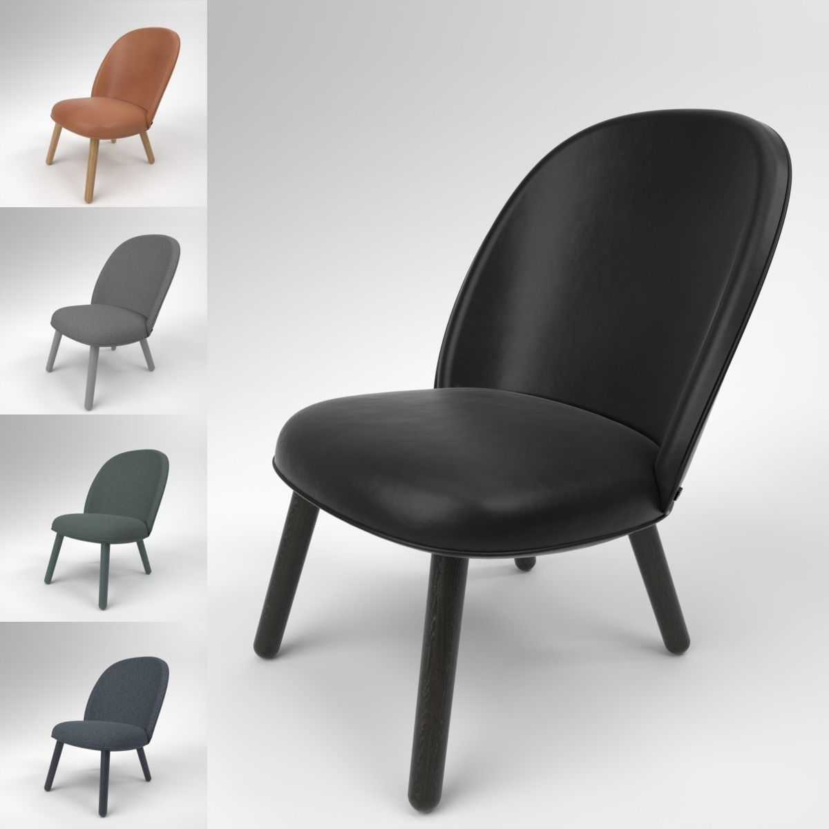 Phenomenal Normann Copenhagen Ace Lounge Chair Blender Cycles 3D Model Camellatalisay Diy Chair Ideas Camellatalisaycom